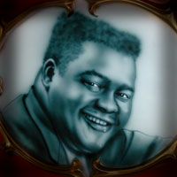 airbrush aerograf painting portrait blues star Fats Domino