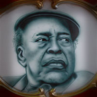 airbrush painting portrait blues star James Cotton