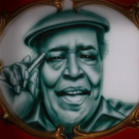 airbrush aerograf malowanie portret blues James Cotton