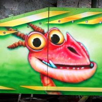 airbrush aerograf attraction carrousel karuzele rollercoaster bobovka how to train your dragon defenders of berk dragons dragon nest