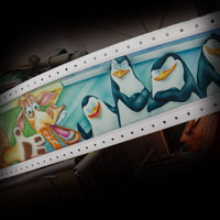 airbrush attraction painting aerograf karuzela decki kolotoc czech republik cartoon disney madagascar pingwiny z madagaskaru penguins