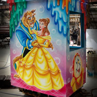 airbrush aerograf attraction karuzele piękna i bestia beauty and beast casse