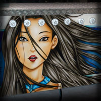 airbrush attraction painting love stories pocahontas disney malowanie karuzel