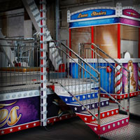 airbrush attraction painting kolotoc ferris wheel rides love stories