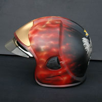 airbrush true fire firefighter helmet