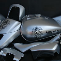 aerograf graffiti sons of anarchy on suzuki intruder 1.8