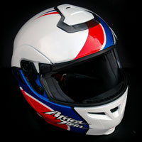 airbrush helmet shoei multitec africa twin