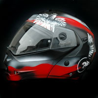 custompainting helmet caberg poland