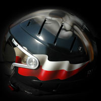 airbrush aerograf custompainting helmet poland kask polska flaga pl