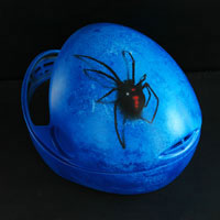 airbrush aerograf helmet black widow 3d effect spider