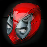 airbrush aerograf motorcycle helmet full face deadpool