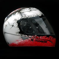 airbrush helmet hjc is-16 poland patriotic