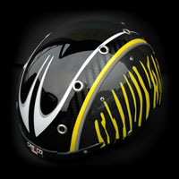 airbrush helmet ski casco carbon wintersport