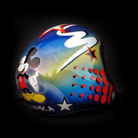 airbrush aerograf kask spadochronowy skydiving helmet miki mickey mouse