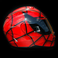 kask spiderman helmet black eyes