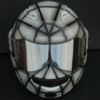 aerograf airbrush spiderman helmet white