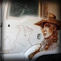 airbrush sadie adler painting art red dead redemption 2